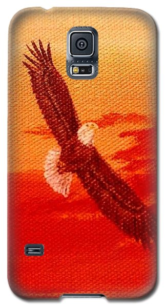 Galaxy S5 Case featuring the painting Soaring by Katherine Young-Beck