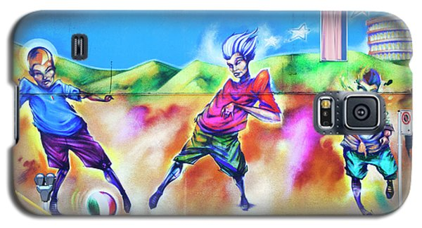 Soccer Graffiti Galaxy S5 Case by Theresa Tahara