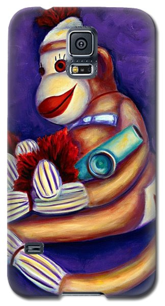 Sock Monkey With Kazoo Galaxy S5 Case