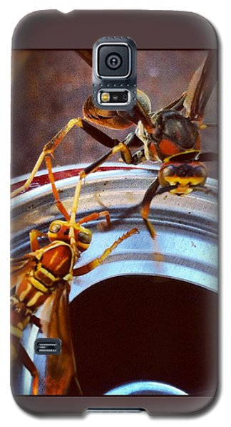 Soda Pop Bandits, Two Wasps On A Pop Can  Galaxy S5 Case