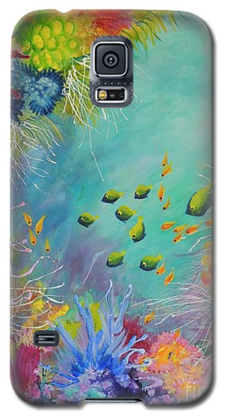 Galaxy S5 Case featuring the painting Soft And Hard Reef Corals by Lyn Olsen