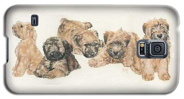 Soft-coated Wheaten Terrier Puppies Galaxy S5 Case by Barbara Keith