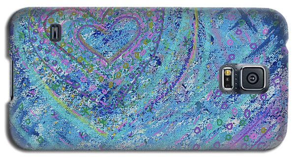 Galaxy S5 Case featuring the painting Soft Heart by Corinne Carroll