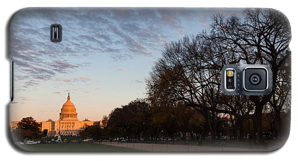 Soft Orange Glow - U S Capitol And The National Mall At Sunset Galaxy S5 Case