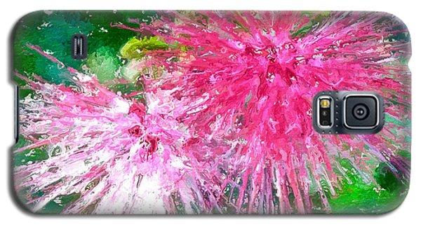 Soft Pink Flower Galaxy S5 Case
