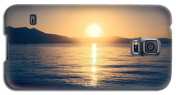 Soft Sunset Lake Galaxy S5 Case