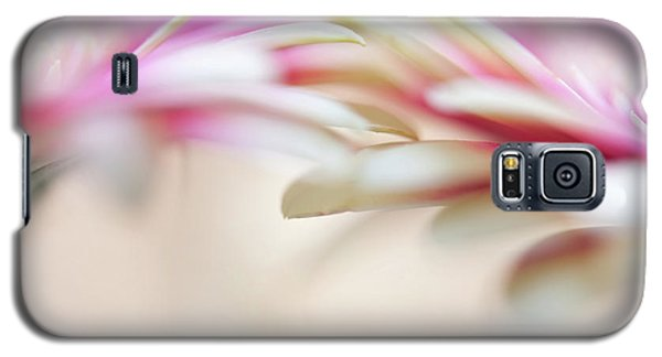 Galaxy S5 Case featuring the photograph Soft Touch. Macro Gerbera by Jenny Rainbow