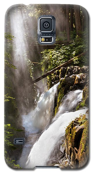 Galaxy S5 Case featuring the photograph Sol Duc Falls by Adam Romanowicz