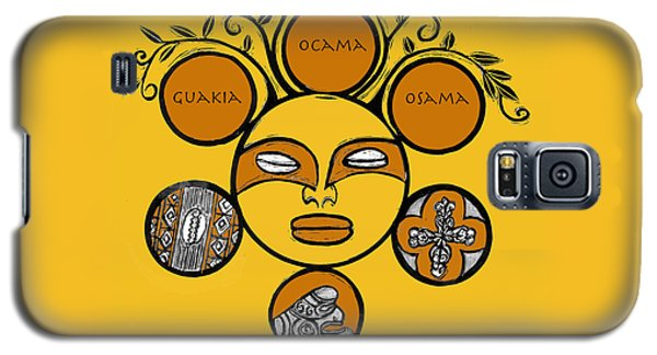 Galaxy S5 Case featuring the drawing Sol Taino by Aurora Levins Morales