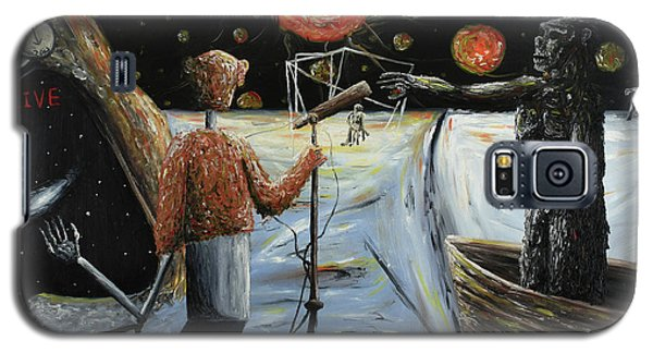 Galaxy S5 Case featuring the painting Solar Broadcast -transition- by Ryan Demaree