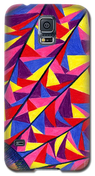 Galaxy S5 Case featuring the drawing Solar Fractals by Kim Sy Ok