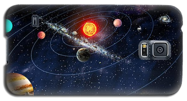 Galaxy S5 Case featuring the digital art Solar System by Gina Dsgn