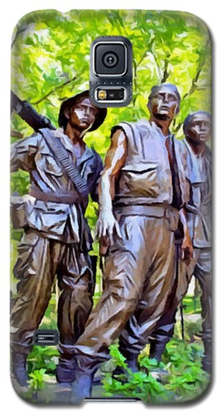 Soldiers Statue At The Vietnam Wall Galaxy S5 Case
