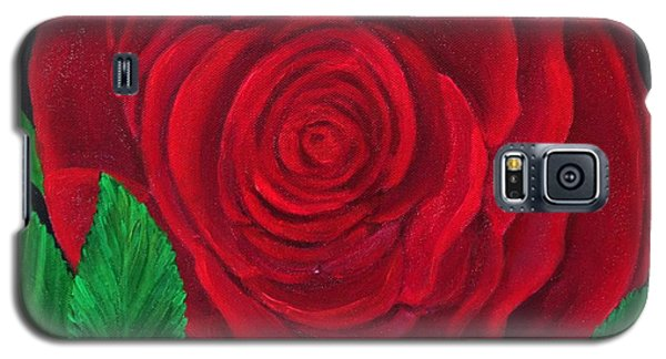 Solitary Red Rose Galaxy S5 Case