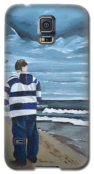 Galaxy S5 Case featuring the painting Solitude by Donna Blossom