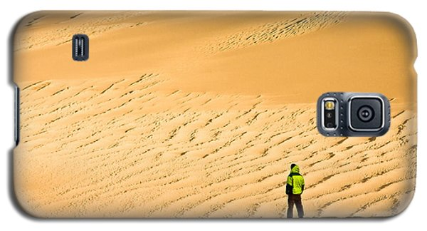 Galaxy S5 Case featuring the photograph Solitude In The Dunes by Rikk Flohr