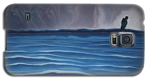 Galaxy S5 Case featuring the painting Solitude by Michael  TMAD Finney