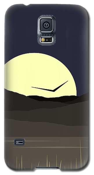 Galaxy S5 Case featuring the digital art Solo Flight - Vertical by Val Arie
