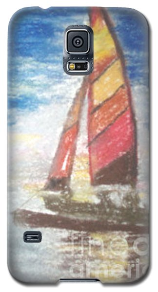Galaxy S5 Case featuring the painting Solo Ride by Trilby Cole