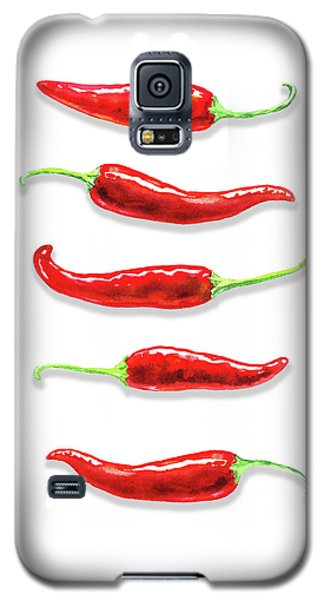 Galaxy S5 Case featuring the painting Some Likes It Hot Red Chili  by Irina Sztukowski