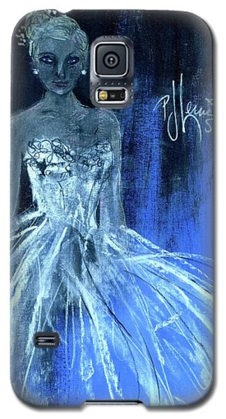 Galaxy S5 Case featuring the painting Something Blue by P J Lewis