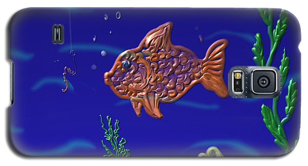 Galaxy S5 Case featuring the painting Something Fishy by Kevin Caudill