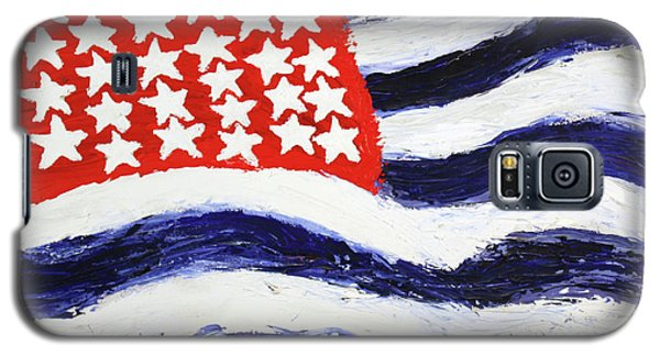 Galaxy S5 Case featuring the painting Something's Wrong With America by Thomas Blood