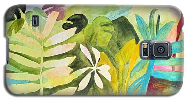 Galaxy S5 Case featuring the painting Sometimes I Miss The Tropics by Sandy McIntire