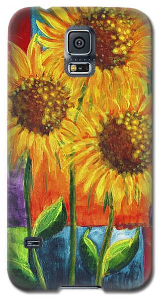Sonflowers I Galaxy S5 Case by Holly Carmichael