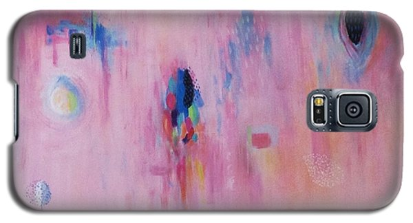Galaxy S5 Case featuring the painting Working Through The Layers Pink by Suzzanna Frank