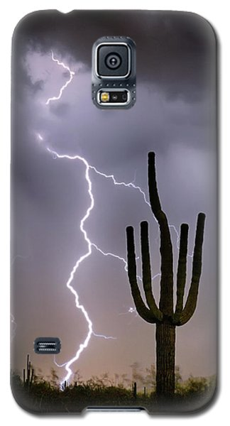 Galaxy S5 Case featuring the photograph Sonoran Desert Monsoon Storming by James BO Insogna