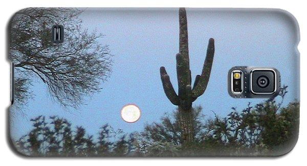 Sonoran Desert Moonset Galaxy S5 Case
