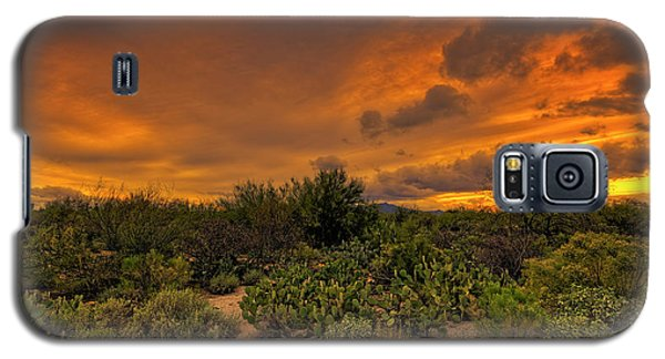 Galaxy S5 Case featuring the photograph Sonoran Sunset H4 by Mark Myhaver