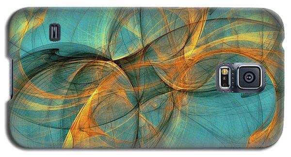 Galaxy S5 Case featuring the digital art Soothing Blue by Deborah Benoit