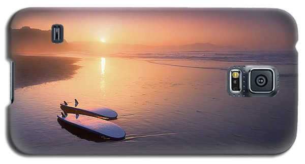Sopelana Beach With Surfboards On The Shore Galaxy S5 Case