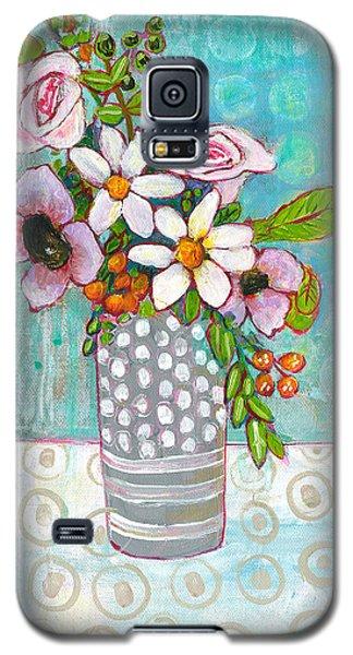 Sophia Daisy Flowers Galaxy S5 Case by Blenda Studio