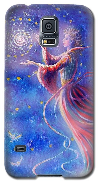 Galaxy S5 Case featuring the mixed media Sophia Finds Wisdom by Dee Davis