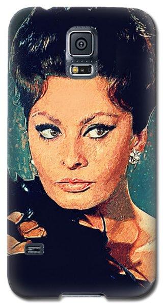 Sophia Loren Galaxy S5 Case by Taylan Apukovska