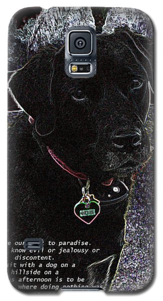 Galaxy S5 Case featuring the mixed media Sophie by Charles Shoup