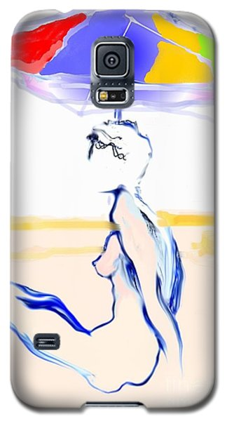 Sophi's Umbrella #2 - Female Nude Galaxy S5 Case by Carolyn Weltman