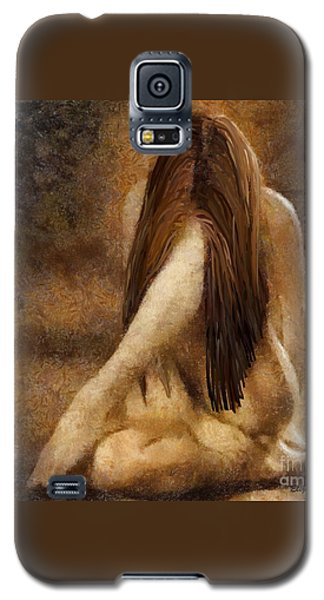 Galaxy S5 Case featuring the painting Sorrow by Elizabeth Coats