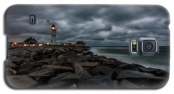 Stormy Clouds Over Old Scituate Lighthouse In The Early Morning Galaxy S5 Case