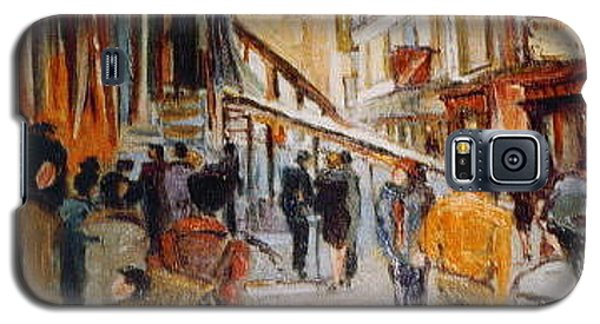 Galaxy S5 Case featuring the painting Souk De Buci by Walter Casaravilla