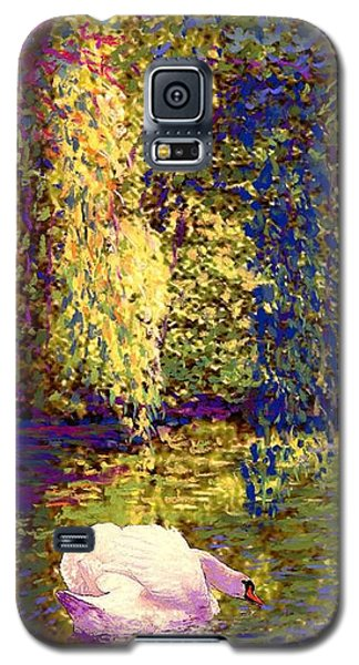 Galaxy S5 Case featuring the painting Swans, Soul Mates by Jane Small