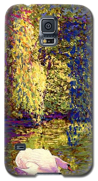 Swans, Soul Mates Galaxy S5 Case by Jane Small