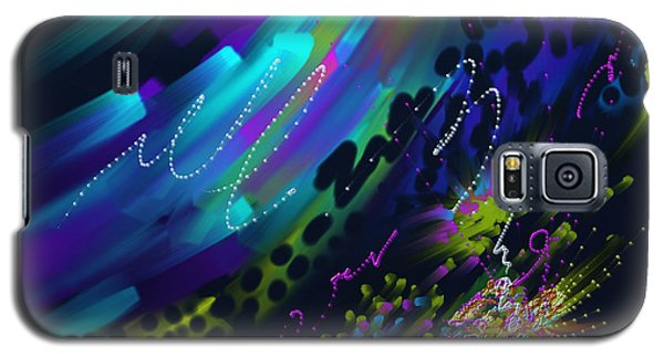 Galaxy S5 Case featuring the painting Soul So Blue by Kevin Caudill