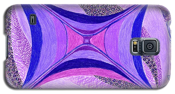 Galaxy S5 Case featuring the drawing Soulviolet by Kim Sy Ok