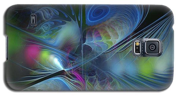 Galaxy S5 Case featuring the digital art Sound And Smoke by Karin Kuhlmann