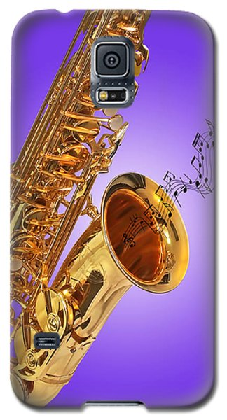 Sounds Of The Sax In Purple Galaxy S5 Case