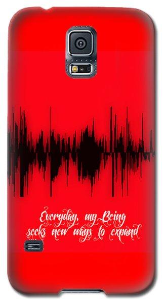 Soundwave Message Galaxy S5 Case by Marvin Blaine